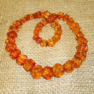 Vintage Old Natural Baltic Amber, Genuine! Very Beautiful Necklace! 50gr. 101