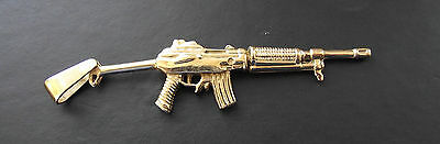 9ct gold Air Rifle gun 26 grams stamped 375 the Pendant Fully hallmarked