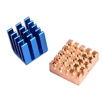 1Sets Aluminium Copper Heatsink set for ALL Raspberry Pi Models 3 2 B+  AU