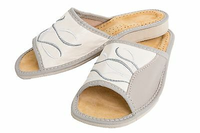 Ladies Very Comfy Leather Slippers House Flip Flops with Soft Insole FOS401