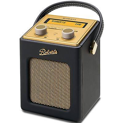 New Roberts Revival Mini Black FM DAB DAB+ Portable Digial Radio