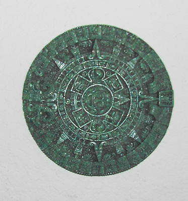"Aztec Art 10 1/2"" Round Green Aztec Calendar Very Unique Piece Well Crafted!!!"