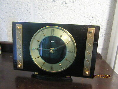 "Upcycled Retro Quartz Clock In Working Order 8.5"" x 6"""