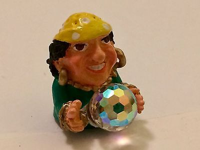 """A Delightful Hand Painted Pewter thimble of  a """"Gypsy Fortune Teller"""""""