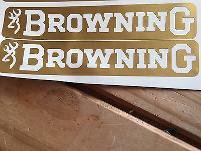 Browning Shotgun Sticker Decal GOLD 12g 525 725 Medalist Gti Ultra Clay Pigeon