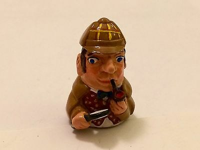 """A Delightful Hand Painted Pewter thimble of """"Sherlock Holmes"""""""