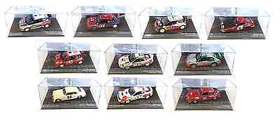 Set Of 10 Rally Cars Wrc 1:43 - Collectible Diecast Car Model Racing - Ixo