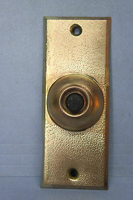 1925 VINTAGE SOLID BRASS DOORBELL BUTTON w/ SCREWS - Patent Mar 3, 1925