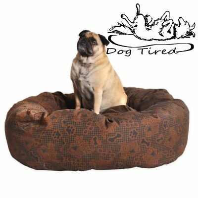 DOG TIRED, DONUT Dog Bed, Heavy Duty Pet Beds. Many Colours, 4 Sizes, Top Seller