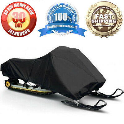 Premium Waterproof Snowmobile Cover Winter Snow Storage Black Outdoor Protection