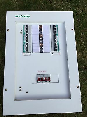 Distribution Board Fuse Consumer Unit 3 Phase Three Box 6 Way