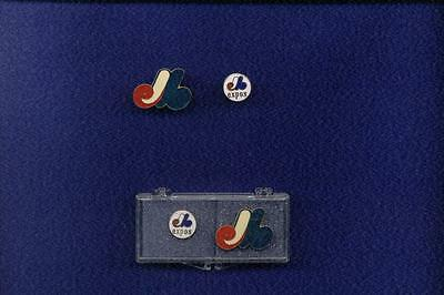 1989 Montreal Expos Lapel Pin Set Of 2  Rare Mint Condition