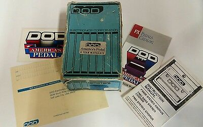 Vintage Rare 1980's DOD FX65 Stereo Chorus guitar effects Pedal USA, boxed