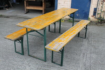 Beer garden wine bar table and bench set
