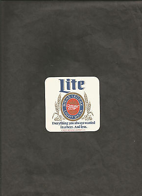 Miller Lite Light Beer Everything You Always Wanted In A Beer And Less Coaster
