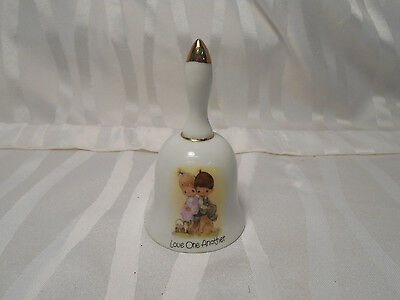 Vintage 1978 Precious Moments Jonathan & David LOVE ONE ANOTHER Bell by Enesco