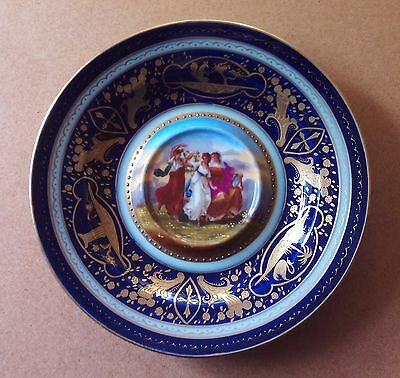 Porcelain Cabinet Plate - Circa 1880? - Vienna? Austria?  Germany?