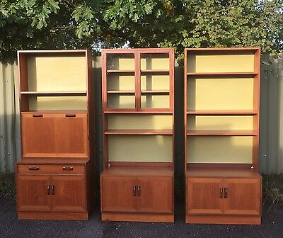 Tall Retro Teak G Plan Display Stands/bookcases 3 Available We Also Deliver