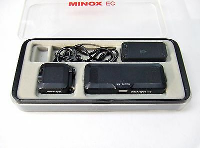Minox  Ec Subminiature Camera + Flash  In Outfit Case