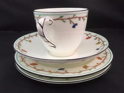 Rare Royal Doulton Cup & Saucer with Two Side Plates 1920/30s Beautiful Pattern