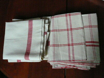 Vintage French 7 Unused Metis Linen Tea Towels