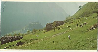 Mesocco Switzerland Over Size Swissair Postcard