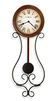 "Wrought Iron Pendulum Wall Clock, Large 22"" Home Decor Art Rustic Antique Charm"