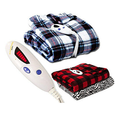 Biddeford Luxuriously Soft Microplush Electric Heated Throw Blanket