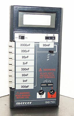 Mercer Electronics 9670 Capacitor Tester - FREE S&H
