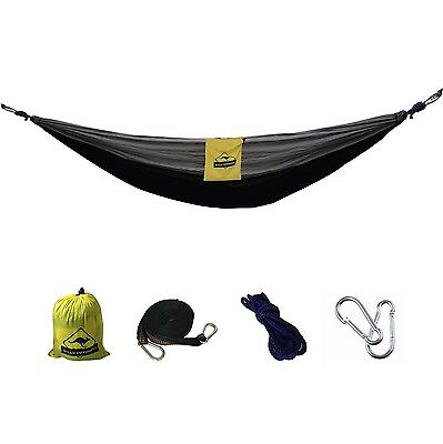 Lightweight Portable Parachute Hammock WITH ALL ACCESSORIES. Military Grade N...