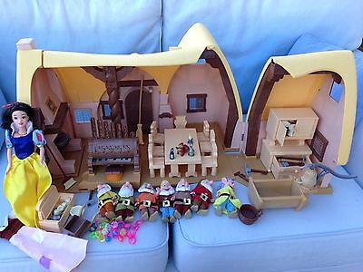 Singing Snow White Doll & Seven Dwarves House + All Accessories Furniture Gems