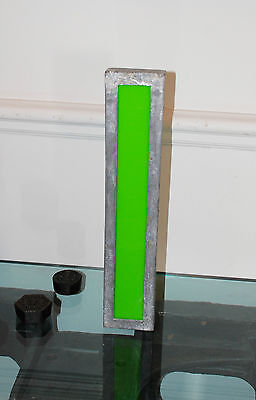 """Large vintage 1940/50s cinema marquee letter I metal and perspex - 16"""" tall"""