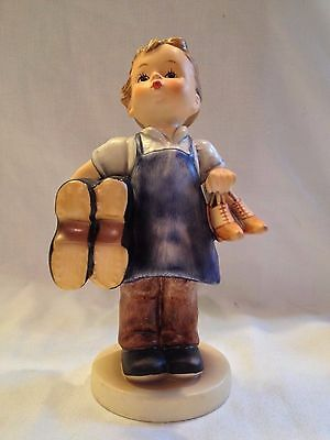 """Goebel Hummel """"Boots"""" #143/O 5"""" Tall ~ MINT Condition~ Boy Holding Shoes"""