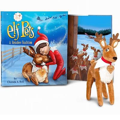 NEW The Elf on the Shelf: Elf Pets a Reindeer Book and Reindeer Plush