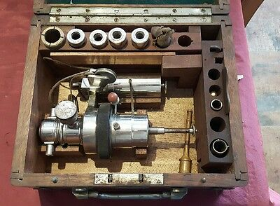 Antique Crosby type Indicator Steam Engine Spring Tester in case