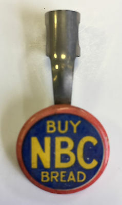 1940-50s NABISCO National Biscuit Company BUY NBC BREAD PENCIL CLIP ADVERTISING