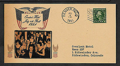 The Shining Overlook Hotel 4th July Postcard on Original Period 1920s Paper *054