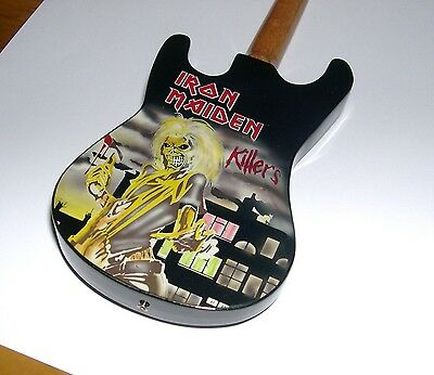 NEW High Qlty Miniature Electric Guitar Black Dave Murray Iron Maiden Killer