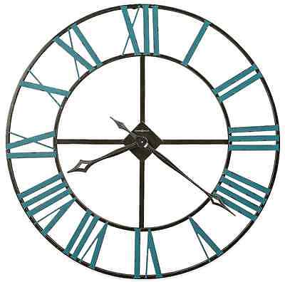 Large Wall Clock Rustic Wrought Iron Vintage Antique Style, Home Art Decor 36""