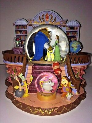 Disney Beauty & the Beast Library THERE'S SOMETHING THERE Music Blower Snowglobe