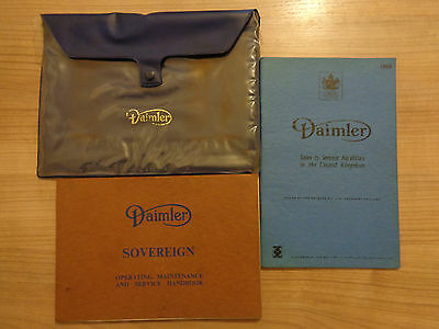 Daimler Sovereign Owners Handbook/Manual and Wallet