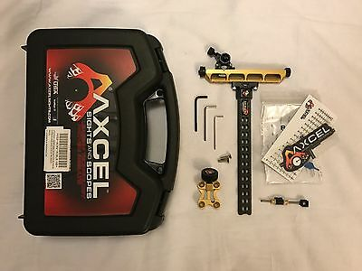 Axcel Achieve RXL Carbon Archery Recurve Bow Sight - Right Handed - Gold