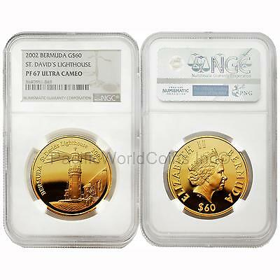 Bermuda 2002 ST. David's Lighthouse $60 Gold NGC PF67 ULTRA CAMEO