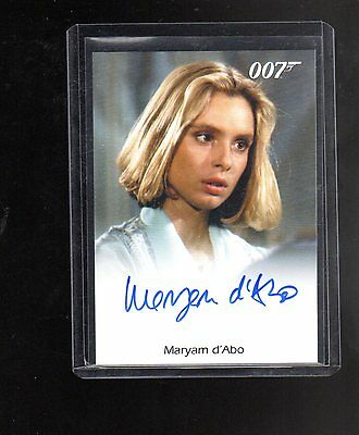 2016 James Bond Archives  Spectre Edition Maryam D,Abo autographed card