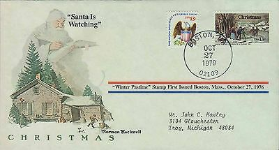 1979 - Norman Rockwell - Commemorative Society - Santa Is Watching