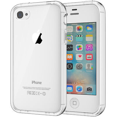 JETech iPhone 4s Bumper Case Shockproof TPU Cover with Clear Back for iPhone 4
