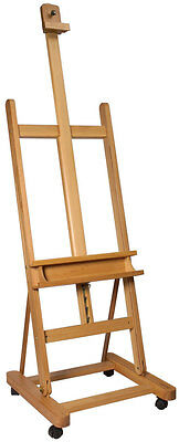 Mont Marte Large Studio Easel with castors Beech Wood - Easy to move around