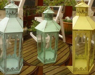 Large Lantern Garden Country Style 3 Colours Selection Metal