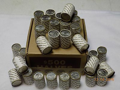 (1) Unsearched roll of Kennedy Half Dollars - POSSIBLE Silver 40% or 90% ers