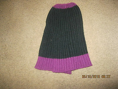toddler leg warmers- black and light maroon
